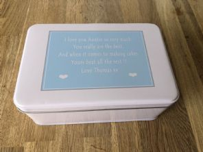 Shabby Personalised chic AUNTIE AUNTY AUNT Cake Biscuit Tin gift ANY NAME Baker - 332815666935